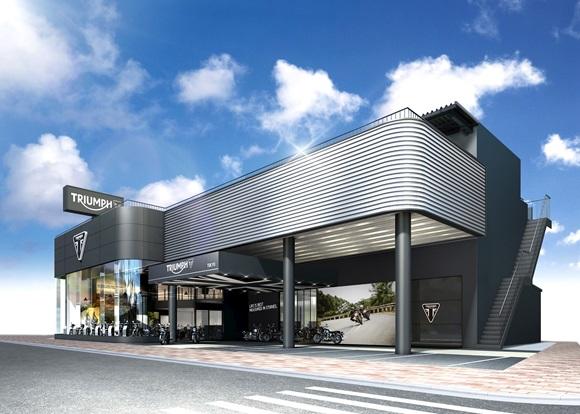 最新デザインの世界戦略フラッグシップストアー、トライアンフ東京が5月1日(月)にオープン!