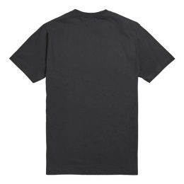 ASHWELL_T-SHIRT JET BLACK / GOLD
